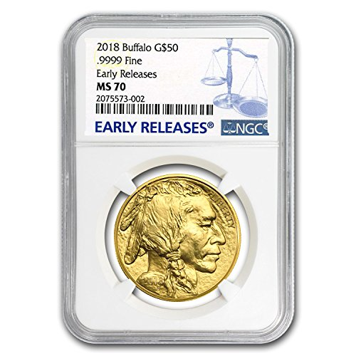 2018 1 oz Gold Buffalo MS-70 NGC (Early Releases) 1 OZ MS-70 NGC