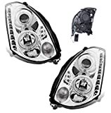 headlight for infinity g35 - SPPC Headlights Chrome Projector (Hid Compatible and CCFL Halo) For Infiniti G35 2 Door - (Pair)