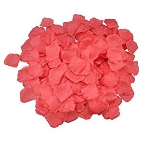 SunshineTrees 1000pcs Artificial Petals Silk Rose Petals Flower Wedding Decoration Favors (Red) 1
