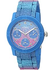 GUESS Womens Quartz Rubber and Silicone Casual Watch, Color:Blue (Model: U0944L2)