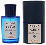 ACQUA DI PARMA BLUE MEDITERRANEO by Acqua Di Parma for MEN FICO DI AMALFI EDT SPRAY 2.5 OZ Launched by the design house of Acqua Di Parma in 2010, ACQUA DI PARMA BLUE MEDITERRANEO by Acqua Di Parma possesses a blend of vetiver, citron, red gi...