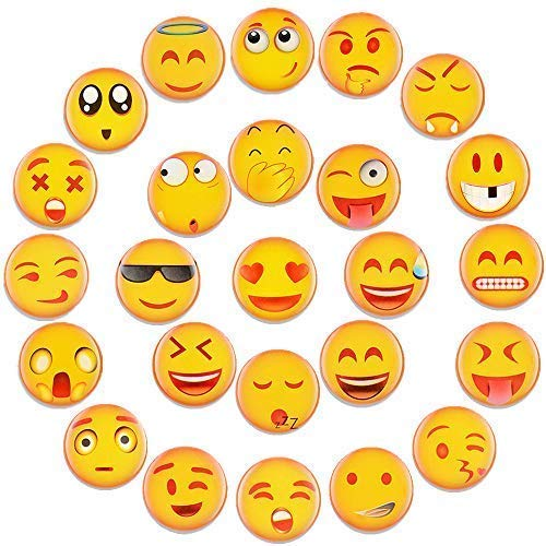 Emoji Magnets for Refrigerator Lockers Decorative Kitchen Fridge Office Whiteboards Iron Accessories Very Cute Funny Best Gift for Kids Toddlers and Adults