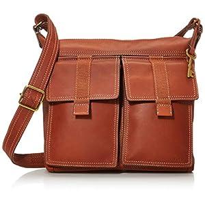 Fossil Women's Cargo Leather Crossbody Purse Handbag