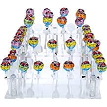 Square Clear Acrylic 4-Tier Lollipops Cake Pop Stand 56 Holes