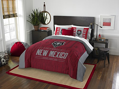 The Northwest Company Officially Licensed NCAA New Mexico Lobos Modern Take Full/Queen Comforter and 2 Sham Set