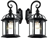 Best Trans Globe Lighting Wall Light Fixtures - Trans Globe Lighting black-2pack 4181 BK Outdoor Wentworth Review