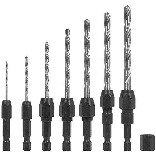 QUICK CHANGE 7 PC DRILL BIT AND ADAPTER SET BY SNAPPY