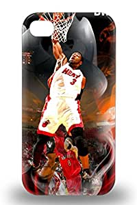 Durable NBA Miami Heat Dwyane Wade #3 Back 3D PC Case Cover For Iphone 4/4s ( Custom Picture iPhone 6, iPhone 6 PLUS, iPhone 5, iPhone 5S, iPhone 5C, iPhone 4, iPhone 4S,Galaxy S6,Galaxy S5,Galaxy S4,Galaxy S3,Note 3,iPad Mini-Mini 2,iPad Air )