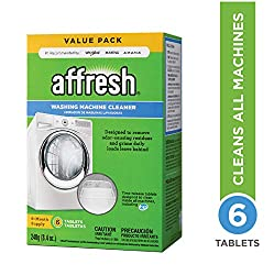 Affresh Washer Cleaner removes and prevents odor-causing residue that can occur in all washers. While bleach only kills odor-causing bacteria leaving behind the detergent residue, Affresh Washer Cleaner uses surfactant chemistry to remove the root pr...