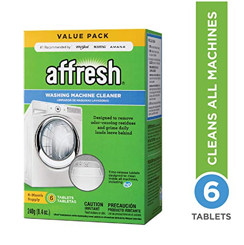 Affresh Washing Machine Cleaner, 6 Tablets | Cleans Front Load & Top Load Washers, Including He (Best Way To Get A Six Pack For Women)
