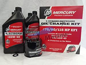 Amazon.com: MERCURY Oil Change and Filter Kit 75-90-115hp
