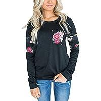 Dearlovers  Womens Long Sleeve Crewneck Casual Loose Sweatshirt Blouse Tops