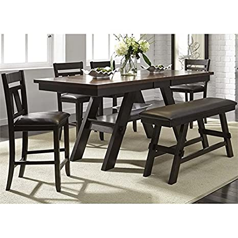 Admirable Amazon Com Liberty Furniture Lawson 6 Piece Counter Height Caraccident5 Cool Chair Designs And Ideas Caraccident5Info