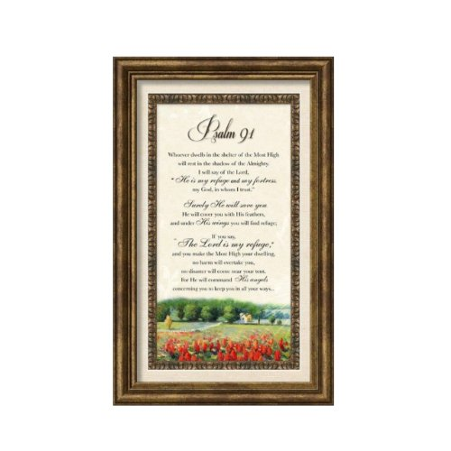 Carpentree 12137 Psalm 91 Classic Framed Art by Carpentree