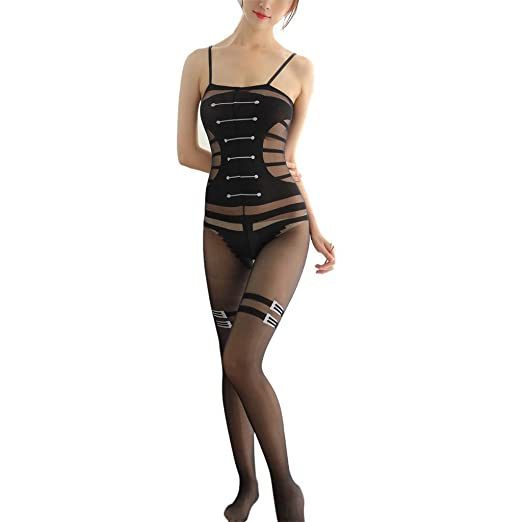 e1d87215c Fishnet Bodystocking Lace Lingerie Net Bodysuit Plus Size Lingerie Tight  for Women(Black