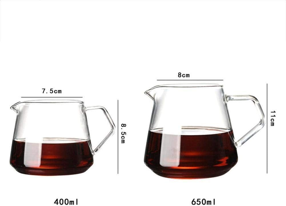 UOYAN Glass Coffee Kettle Home Decor Supplies Carafe Drip Coffee Pot Coffee Kettle Brewer Barista Percolator Transparent Container Elegant Color : B 600ml