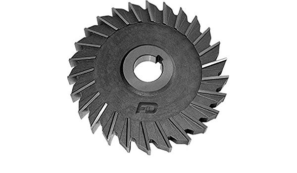 4 Diameter 7//8 Width of Face F/&D Tool Company 10811-A458 Side Milling Cutter 1.25 Hole Size High Speed Steel