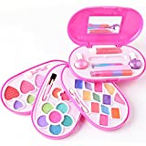 JQGT Trading Real Makeup Set Girls Cosmetics Makeup Kit Pretend Play Dress up Princess Game