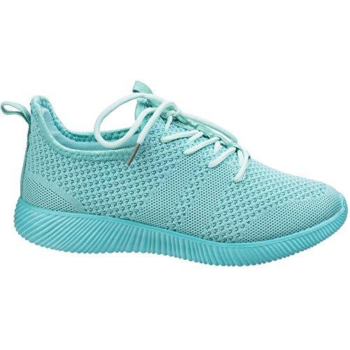 Fashion Trainers Heidi Knit ladies Womens Turquo Shoes Divaz Lightweight vq7YXgw