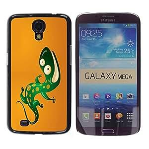 Carcasa Funda Prima Delgada SLIM Casa Case Bandera Cover Shell para Samsung Galaxy Mega 6.3 I9200 SGH-i527 / Business Style Cool Funny Lizard