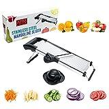 : [UPGRADED] Stainless Steel Mandoline Slicer- Food & Vegetable Julienne Cutter - Adjustable