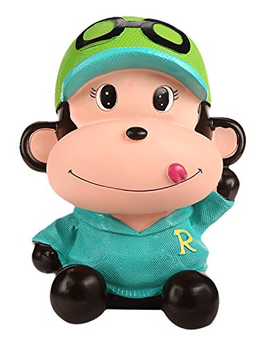 SAVING NOW Coin Green Monkey Coins Penny Cents Piggy Bank Saving Box Money Box Kids Children Present Gift