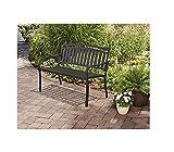Outdoor Patio Garden Furniture Black Metal Bench Review