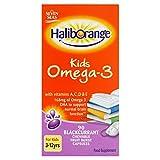 Seven Seas Haliborange Kids Omega-3 with Vitamins A C D & E 90 Blackcurrant Chewable Capsules