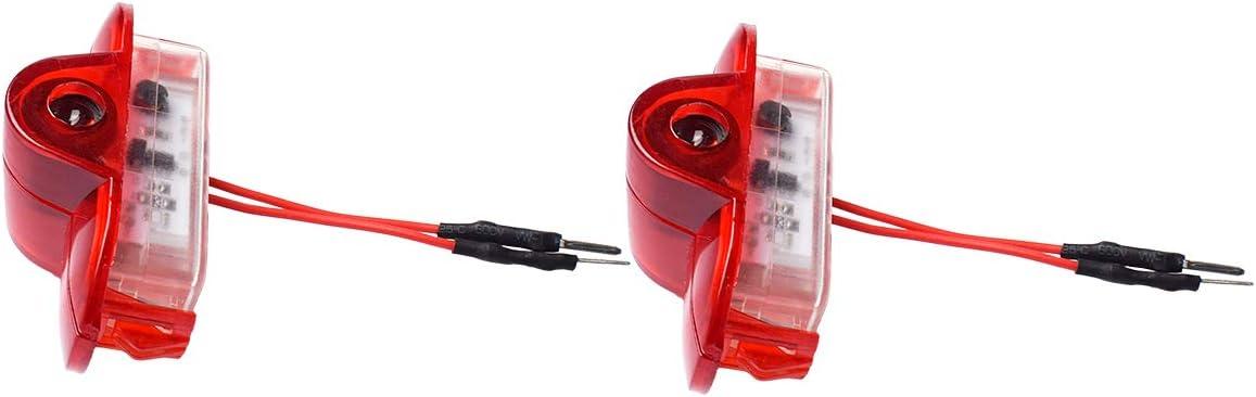YBD-LN-2PC Car LED Proiettore della Lampada Della Porta Ghost Shadow Benvenuto Luce Kit