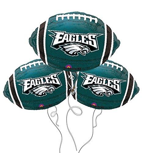 Philadelphia Eagles NFL Football Mylar Balloon - 3 Pack (Feet Mylar Balloon)