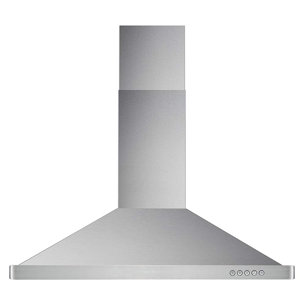 Cosmo 63190 36-in Wall-Mount Range Hood 760-CFM Ducted Ductless Convertible Duct , Kitchen Chimney-Style Over Stove Vent LED Light , 3 Speed Exhaust Fan , Permanent Filter Stainless Steel