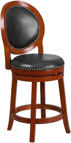 Flash Furniture 26'' High Light Cherry Counter Height Wood Stool