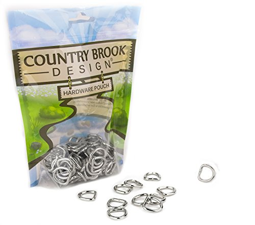 Country Brook Design | 1/2 Inch Welded D-Rings (25 Pack)