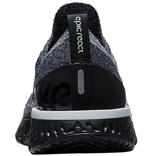 Epic Black Sneakers Basses React Femme Nike 011 White Noir Flyknit Black WMNS 1p65Wqz