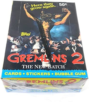 Gremlins 2 promo poster le nouveau Lot 1990 TOPPS TRADING CARDS Nice
