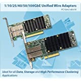 CHELSIO COMMUNICATIONS T62100-LP-CR 2-port 40/50/100GbE Low Profile UWire Adapter with PCI-E x16 Gen 3, 32K conn QSFP28 connector