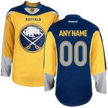 42cf81a7f6f OLISAC Men's Buffalo Sabres Custom Premier Jersey Alternate Gold Blue:  Amazon.ca: Sports & Outdoors