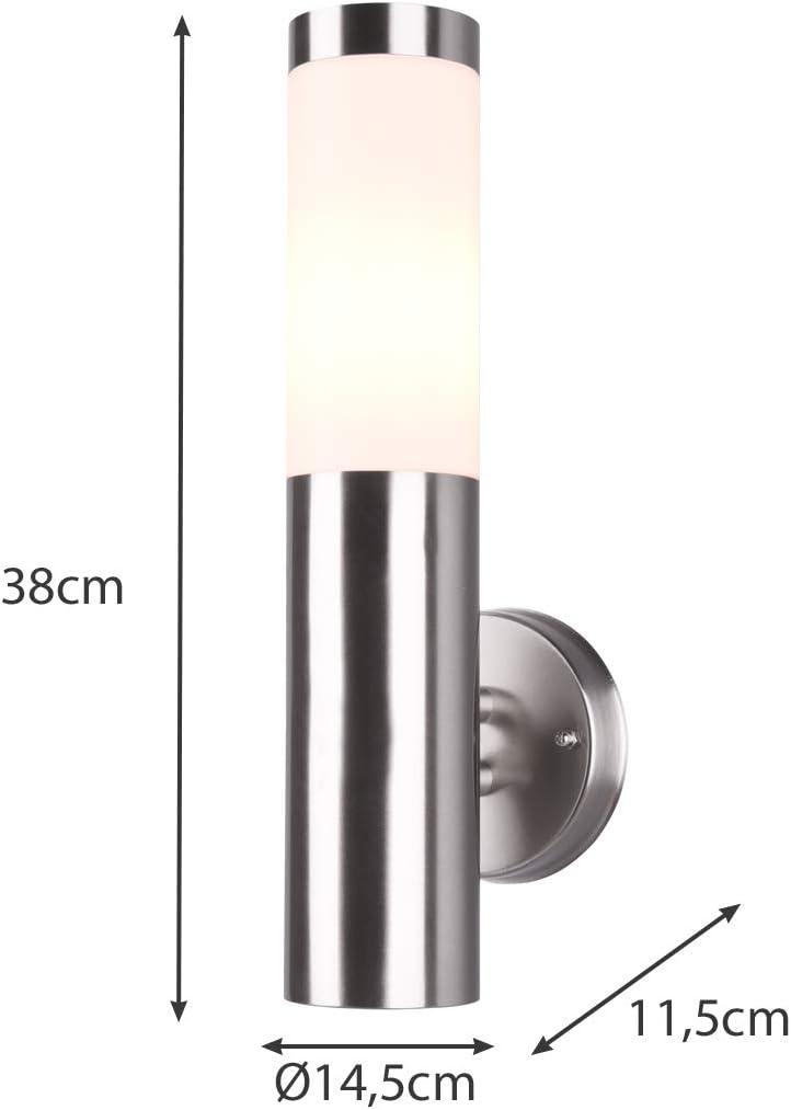 Edelstahl Außenstandleuchte Pollerleuchte Höhe 60cm mit Bewegungsmelder und 2 Steckdosen - vielfältige Außenbeleuchtung für Haus und Garten Außenwandleuchte