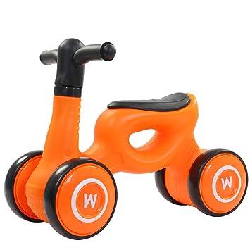 Cuatro ruedas Caminante del bebé Equilibrio de la bicicleta Aprendizaje para caminar Caminar entrenamiento para el equilibrio Conducción interior cubierta ...