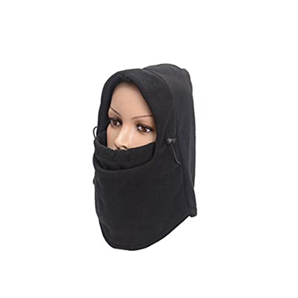 f389ab97a963d Balaclava Fleece Hood Windproof Ski Mask Thermal Warm Cold Weather Face and  Neck Mask Women Men