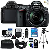 Nikon D5300 24.2 MP DSLR Camera with 18-140mm f/3.5-5.6G ED VR AF-S DX Lens + Pixi-Basic Accessory Bundle