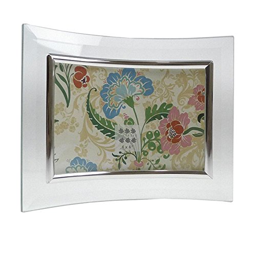 - Curved Bevelled Glass Silver 6x4 Photo Frame Horizontal