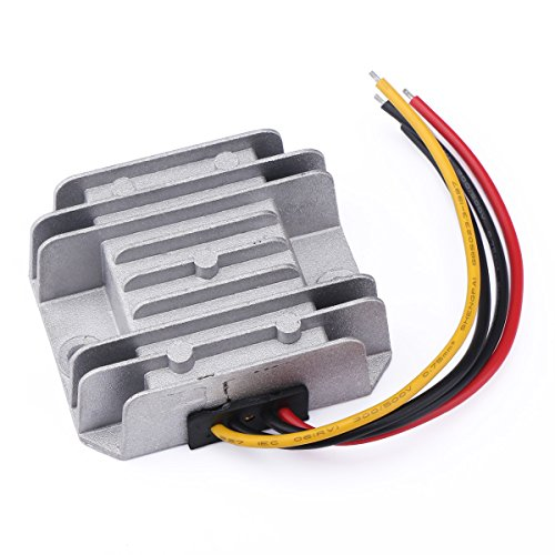 DROK 090581 DC-DC Buck Converter 12V/24V to 5V 5A/25W Step-down Voltage Transformer Volt Regulator Power Supply Inverter Module