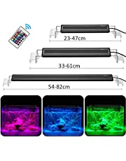 DADYPET Éclairage Aquarium LED, Rampe LED Aquarium, Lumière RGB Aquarium, Lampe Aquarium Plante Supports Extensibles Télécommande Infrarouge, S/M/L (25CM / 37CM / 60CM)