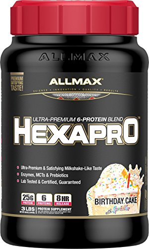 ALLMAX Nutrition Hexapro Protein Blend, Birthday Cake, 3 lbs