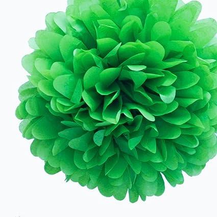"""Vestido mi Cupcake 14 """"Kelly verde tejido papel Pom Poms, juego de 4"""