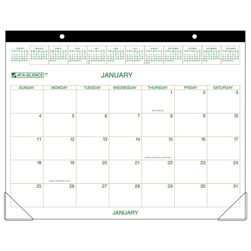 AT-A-GLANCE Recycled Two-Color Desk Pad, 22 x 17 Inches, 2010 (GG250000)