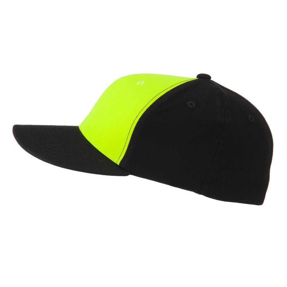 2666e1852fc 2 Tone Neon Flat Bill Flex Caps - Green OSFM at Amazon Men s Clothing  store  Baseball Caps