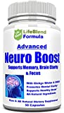 Advanced Brain Function Support for Memory, Focus & Clarity - Mental Performance Nootropic - Physician-Formulated To Provide Blend Of DMAE, Ginkgo Biloba, Bacopa Monnier, L-Glutamine & St. John's Wort