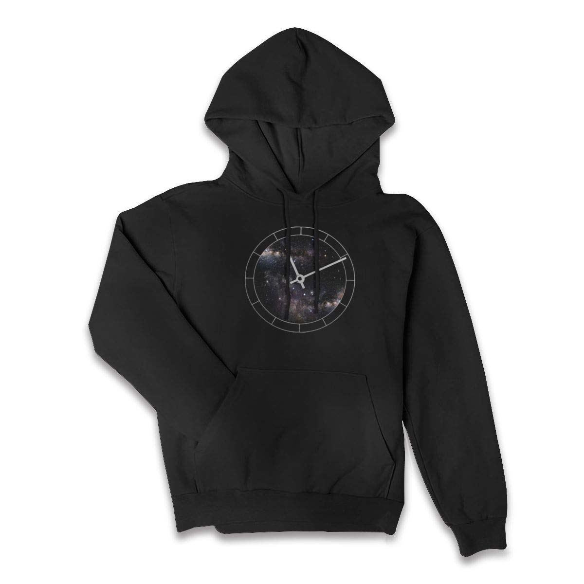 Lponvx Time and Space Womens Casual Zip-up Hooded Sweatshirt with Drawstring Hood